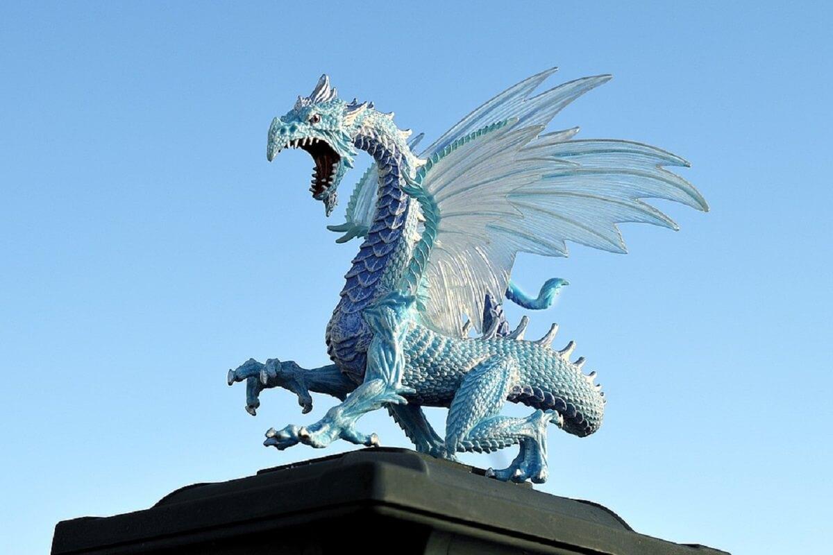 blauwe draak