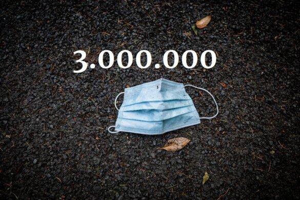 Iedere minuut worden 3 miljoen mondkapjes weggegooid