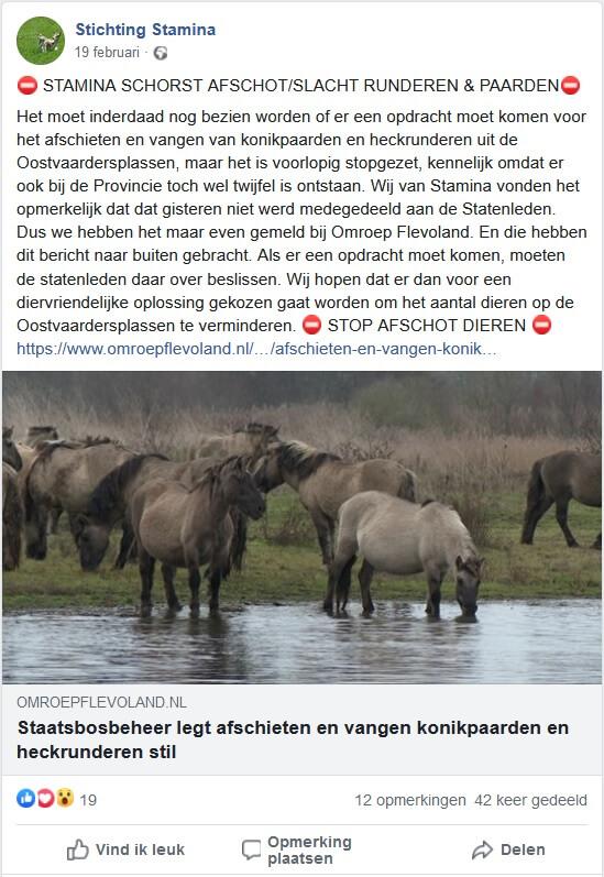 afschot konikpaarden en heckrunderen illegaal