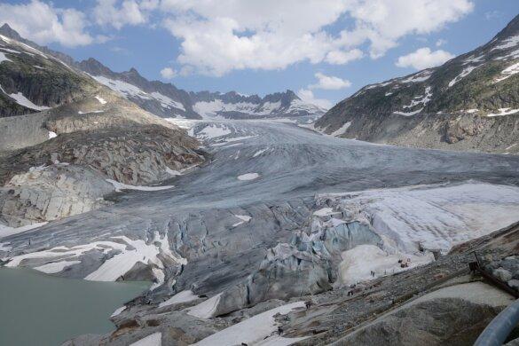 Gletsjer in Zwitserland