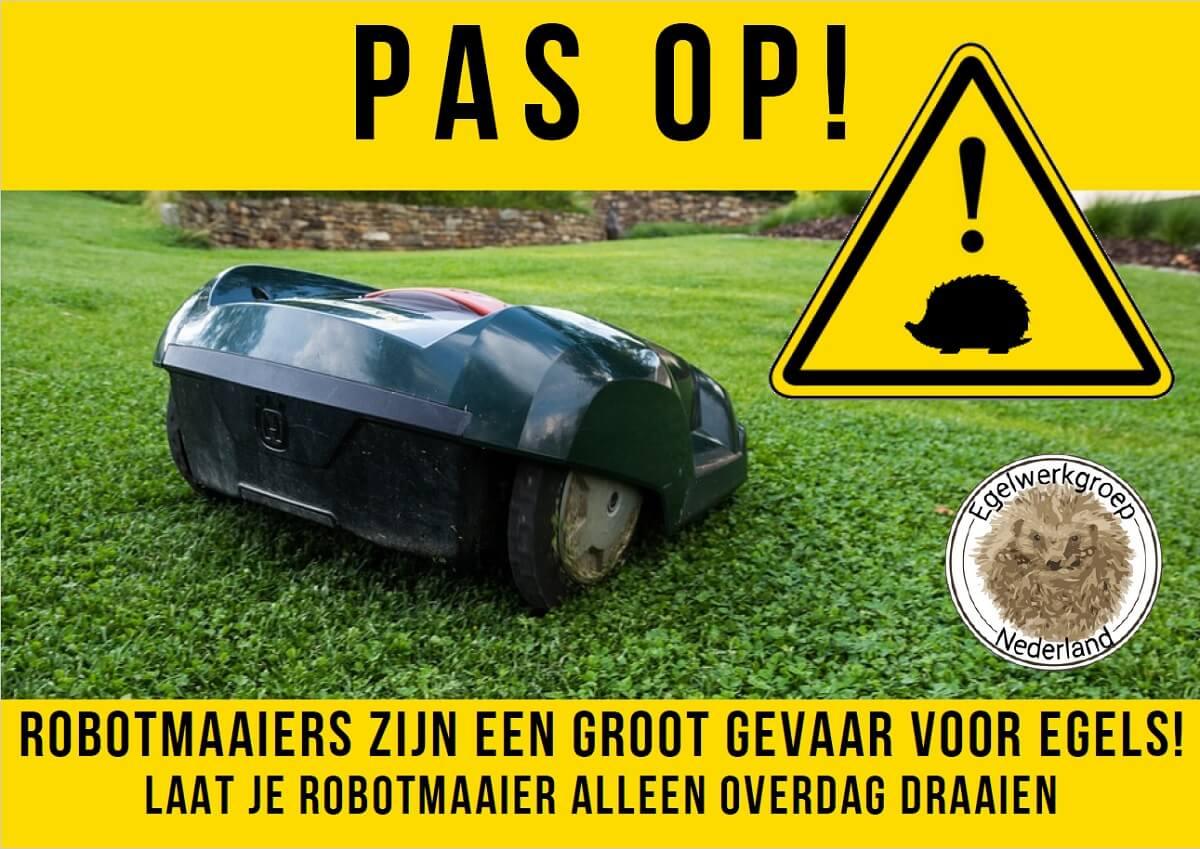 Robotgrasmaaiers gevaarlijk voor egels