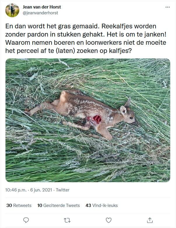 Wildverdrijver voorkomt slachtoffers tijdens maaien