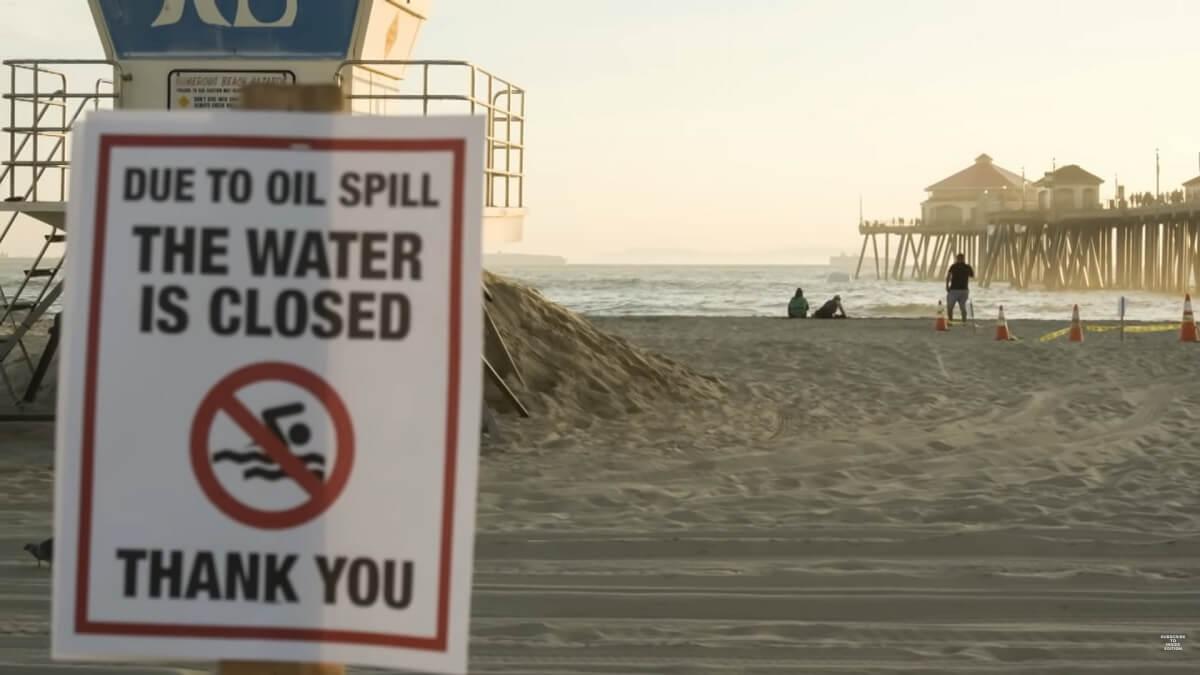 Olielek voor kust Californië is ecologische ramp