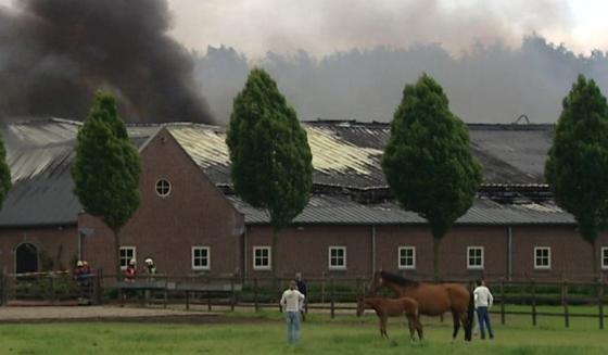 Brand bij paardenfokkerij