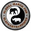 Global March voor olifanten en neushoorns op 24 september
