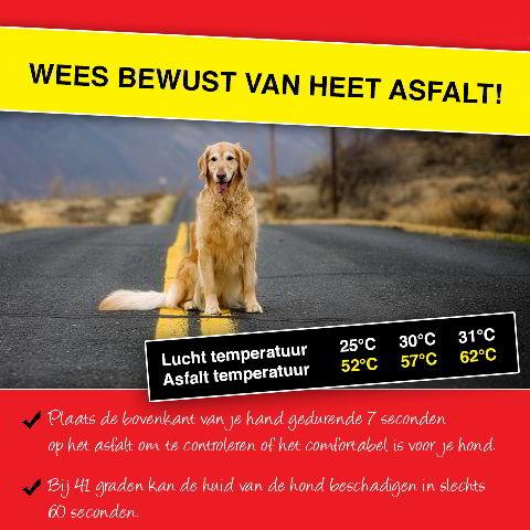 Heet asfalt