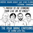 Steunbetuiging nabestaanden slachtoffers aanslag Charlie Hebdo