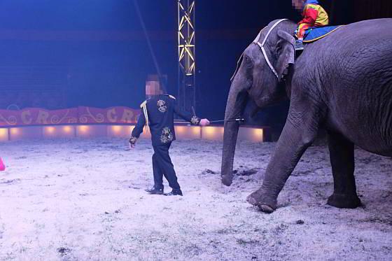 Ciircus Renz Berlin gebruik olifantenhaak