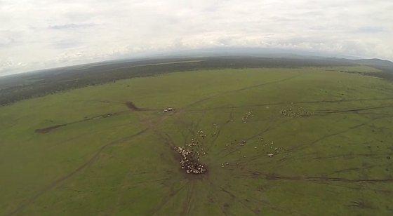 Drone in vlucht - Kenia