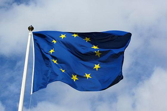 Europese vlag - CO2-uitstoot Europa afgenomen