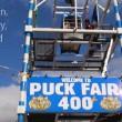 Geit de lucht in tijdens Puck Fair in Ierland