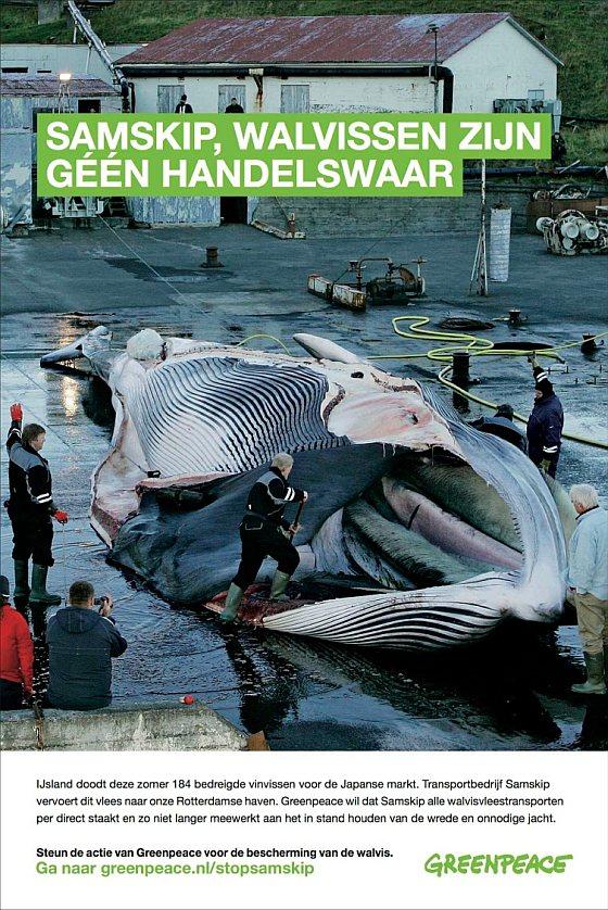 Advertentie Greenpeace