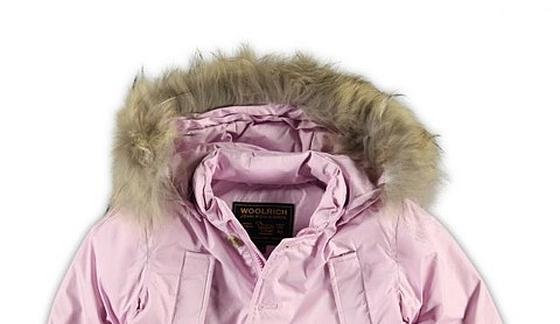 Woolrich jas met coyotebont - Kleertjes.com