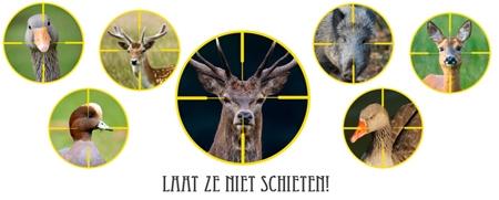Laat de dieren niet schieten