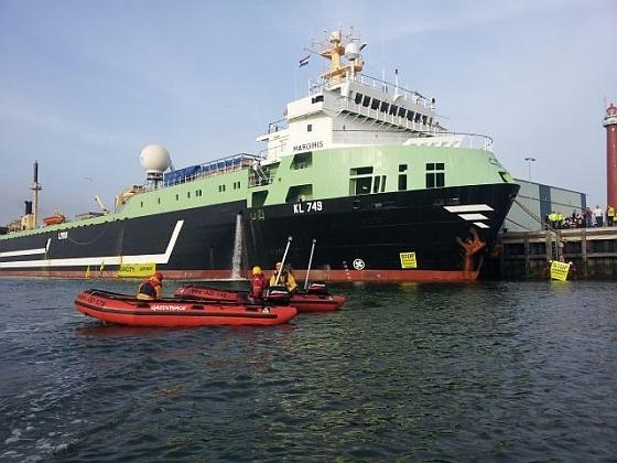 Greenpeace actie Margiris