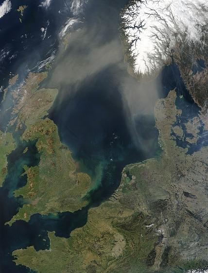 Satellietfoto Noordzee