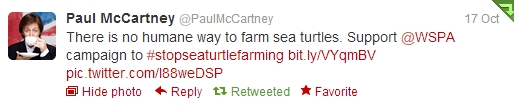 tweet Paul McCartney