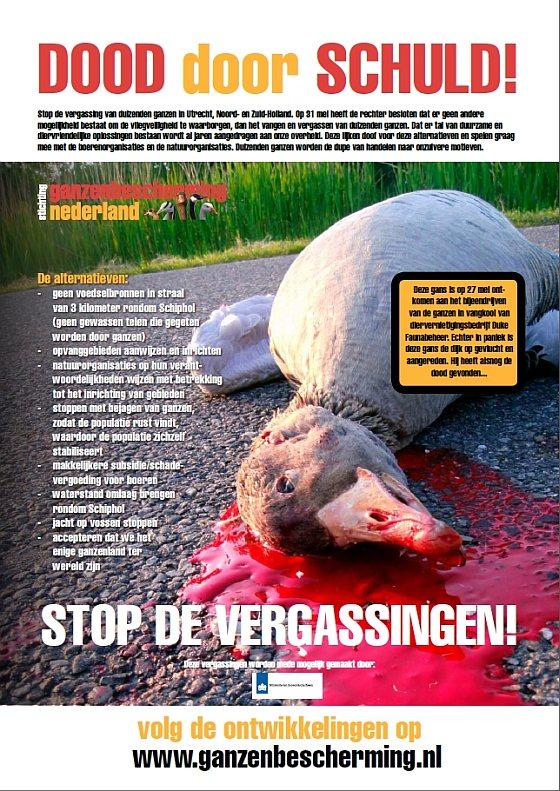 Poster - Stop Vergassingen - ganzen