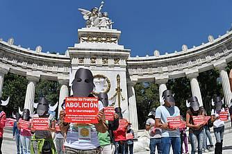 Protest stierenvechten Mexico