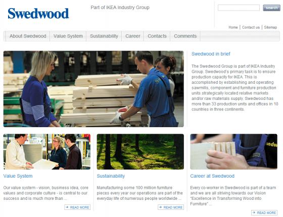 Swedwood website