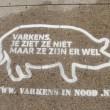 Vijftienhonderd keer graffiti voor varkens