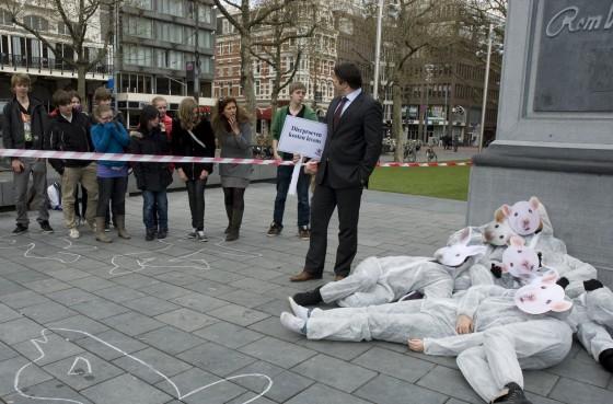 Vier Voeters demonstratie 2 - Wereld Proefdierendag