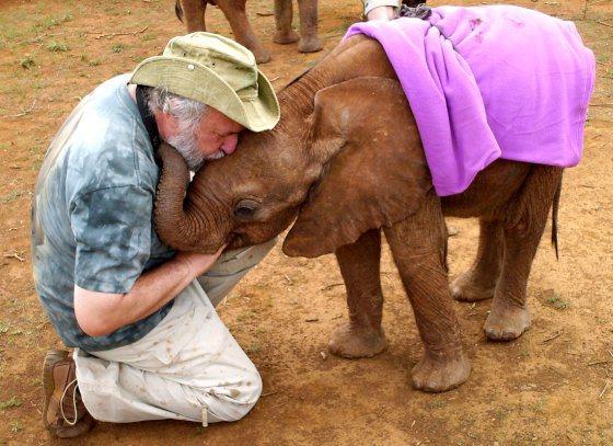 Rob Faber en Dida - olifantenritjes