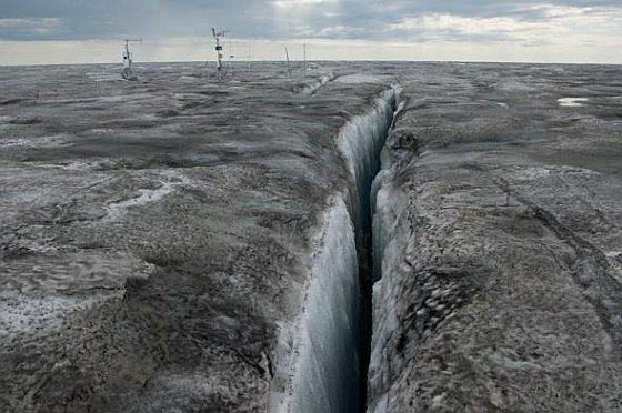Zwart ijs Groenland